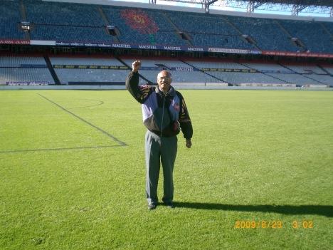 Thomas in stadium