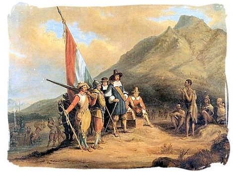 Arrival of Jan van Riebeeck in the Cape in 1652