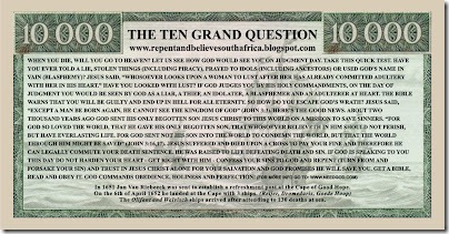 Ten Grand Note Artwork Side B