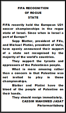 FIFA Recognition of rogue state