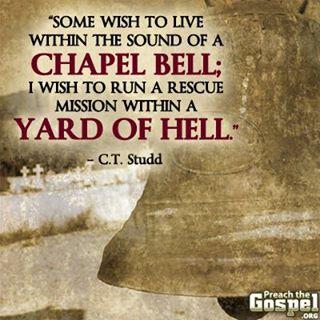 C.T. Studd quote