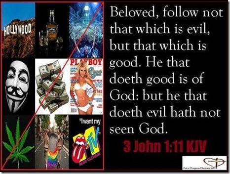 Follow not evil