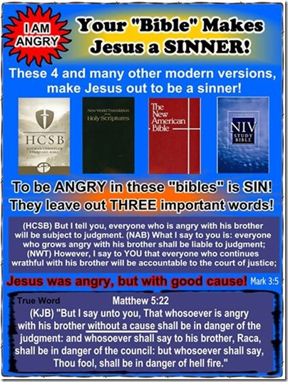 """Your """"Bible"""" Makes Jesus a Sinner!"""