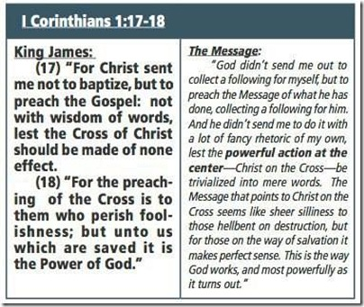 The Message Heresy in 1 Corinthians 1:17-18