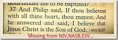 Acts 8:37 Missing!