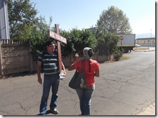 Gary speaking to Phuma on Conway Road