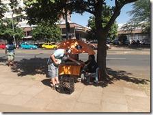 Marius distributing to a street vendor