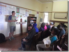 Gary preaching at the Scottsville Clinic