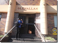 Gary placing Gospel tracts in Glenallan's postboxes