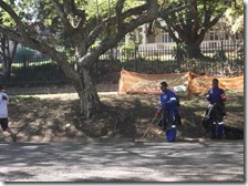 Municipal cleaners being tracted