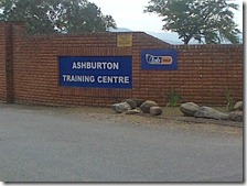 Entrance to the Ashburton Training Centre