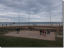Main beach basketball court