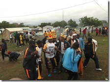 A group of Kaizer Chiefs supporters