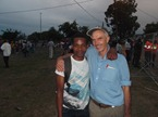 Jono and a brother who attends their fellowship