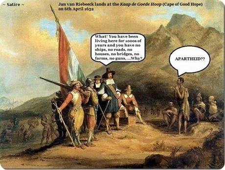 Portrait of Jan van Riebeeck landing in Table Bay, meeting with the Khoi