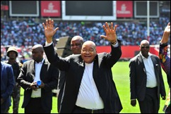 Jacob Zuma at the UCKG at Ellis Park, on Friday March 25, 2016