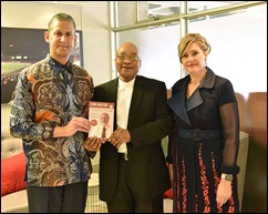 Bp. Marcelo presents President Jacob Zuma a Nothing to Lose 3 book (Facebook)