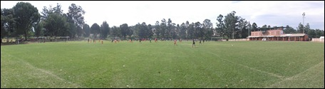 Panoramic view of the outer fields at the Northdale Stadium