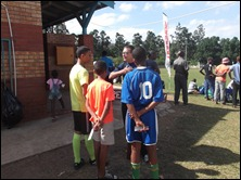 Speaking to  young Christian footballers
