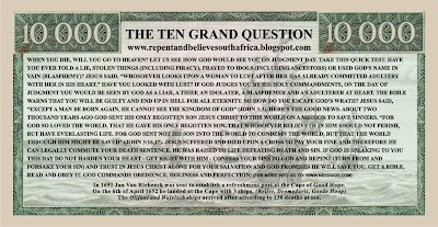 Ten Grand Note Back ~ Click to open
