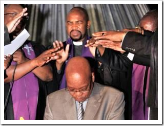 "Jacob Zuma getting ""blessed"" in Giyani, Limpopo"