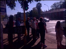 Pedestrian crossing preaching