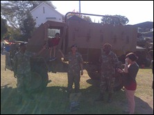 Sergeant Padayachee second right
