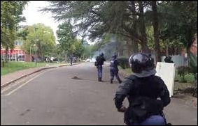 SAPS enforcing law and Order