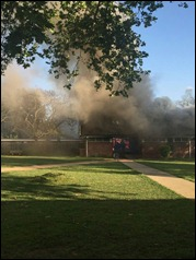 Whilst at the PMB campus, the William O'Brien residence was torched early last week.