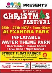 '1st Annual Christmas Festival' poster