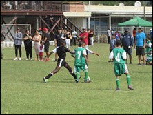 'Kofi' Atta makes the tackle vs. Westside Lads