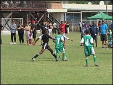 'Kofi' Atta makes the tackle vs. Westside Lads