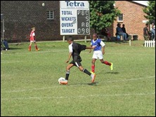 Curt Rogers controlling midfield vs. Savages Blue