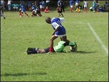 Great save by Azande Zondi vs. Savages Blue