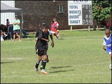 'Kofi' Atta and Curt Rogers defending in midfield vs. Savages Blue