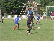 'Kofi' Atta, Thando Hlophe and Curt Rogers on the charge vs. Savages Blue