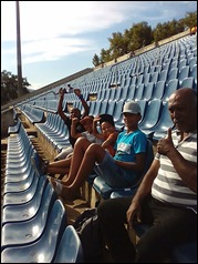 Early on with our neighbours at the Maritzburg United vs. Cape Town City match