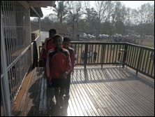 Curt leading the team onto The Deck