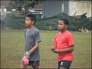 C.J. Sukraj and Thabiso Madlala of Soccer Kids Academy/DCLFA(Durban)