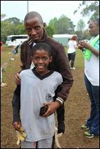 Thulani Zondi and son Azande