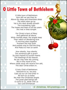 O Little Town of Bethlehem lyrics