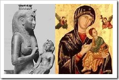 "Isis and Horus / Mary and the ""child"""