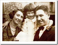 Jimmy with wife Peggy and daughter Gladys