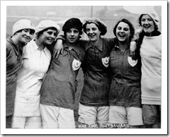 Women war time footballers