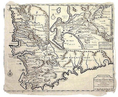 Old Map of the Cape Colony