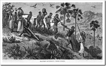 Arab slave traders and their captives along the Ruvuma River in Mozambique [Photo: Wikipedia]