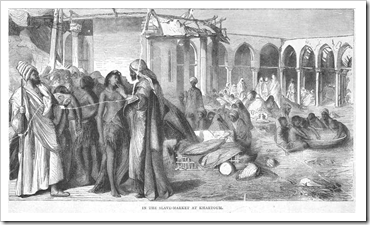 Slave market in Khartoum, c. 1876 [Photo: Wikipedia]