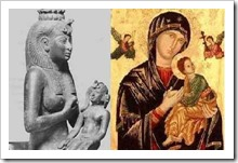 "Isis & Horus / Mary and ""child"" pagan worship"